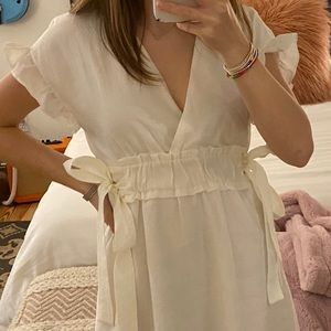 white zara dress!